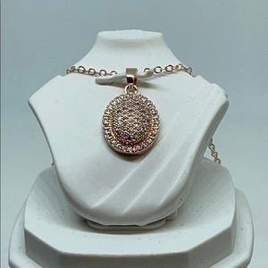 Nikola Valenti Inspired Rose Metal Necklace